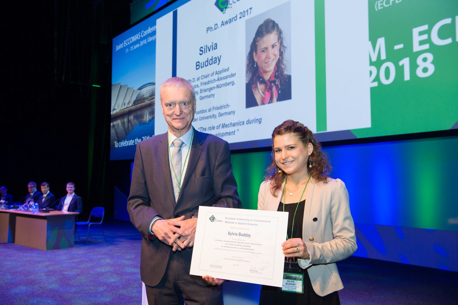 "Zum Artikel ""Dr.-Ing. Silvia Budday received ECCOMAS Best PhD Award 2018"""